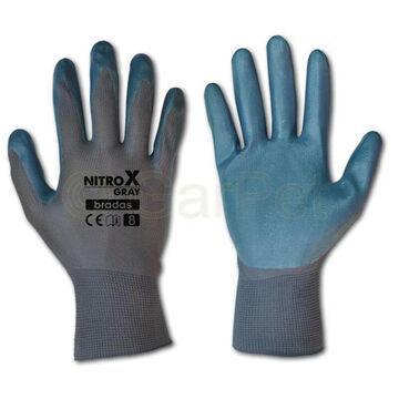 PU Handschuhe schwarz Arbeits Montage Industrie Feinmechanik Gr 8 9 10 Stärke 13