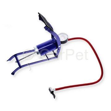 Fußpumpe mit Manometer 3 Bar Luftpumpe Fahrrad KZF Auto Bike Pumpe Fußluftpumpe