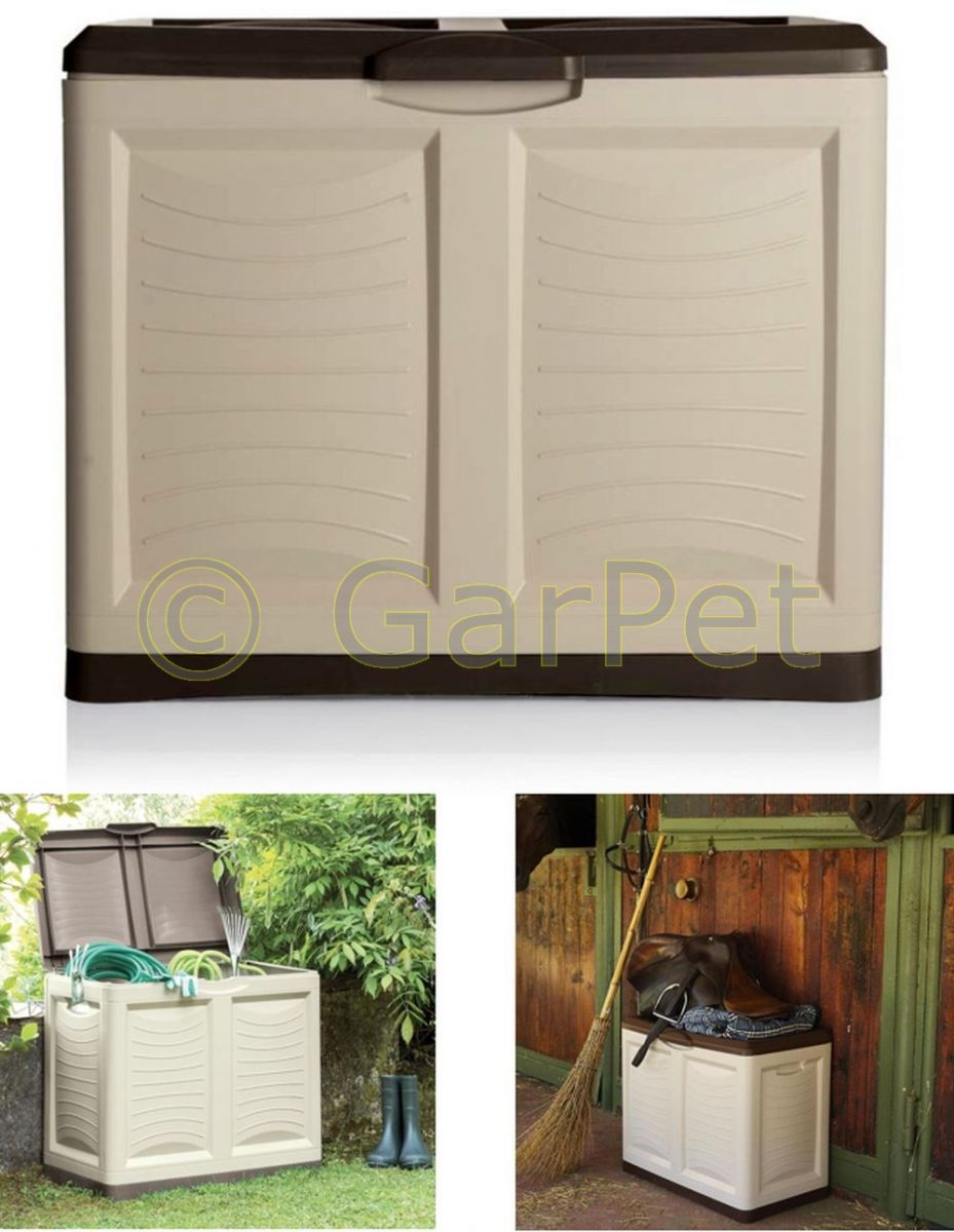 garten aufbewahrungsbox xl auflagenbox kissen box gartentruhe kiste truhe 200 l ebay. Black Bedroom Furniture Sets. Home Design Ideas