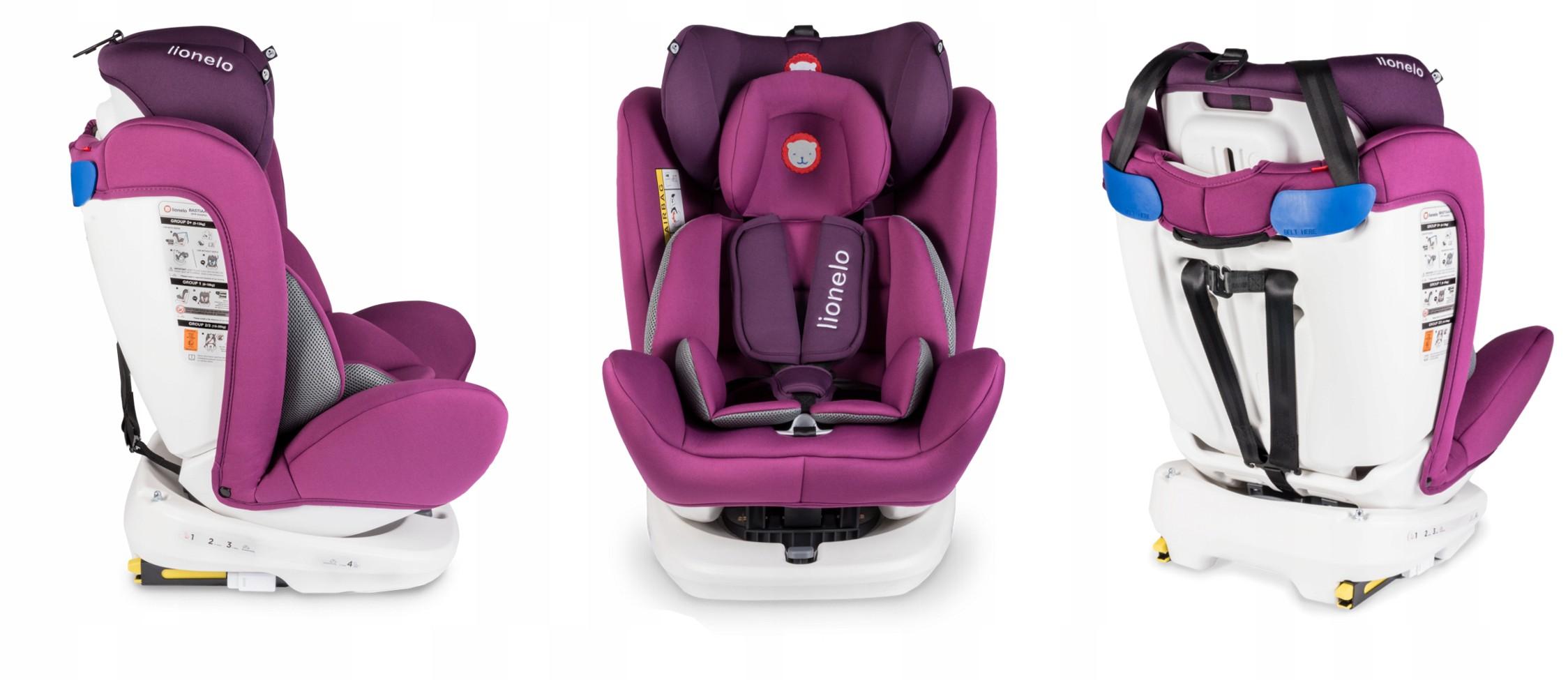 Lionelo-Bastiaan-360-Auto-Kindersitz-Autositz-ISOFIX-9-36Kg-Gruppe-0-1-2-3-TUV Indexbild 29