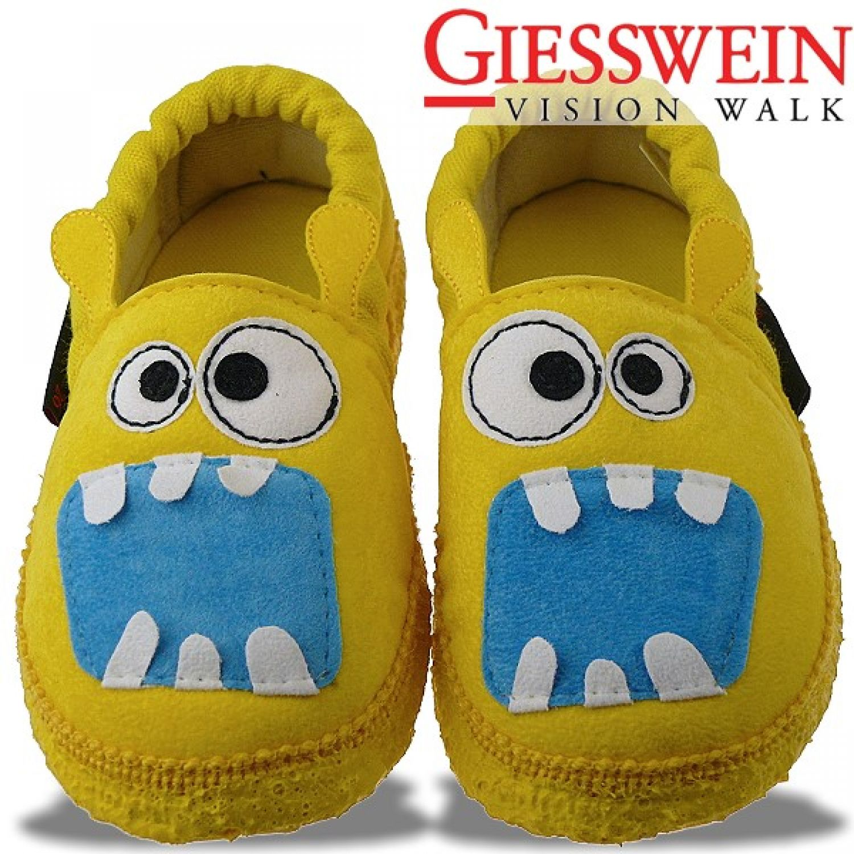 Giesswein ASKIM Hausschuh kleines gelbes Monster Gr.23 35