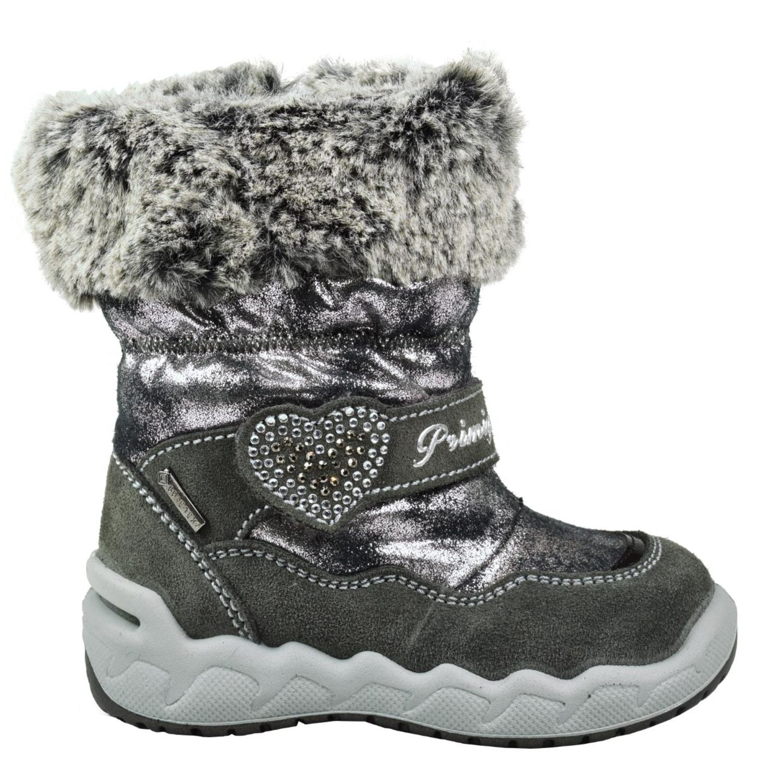 Details zu Primigi PMAGT 23787 zauberhafter Leder Stiefel Gore Tex Fell Strass grau silber