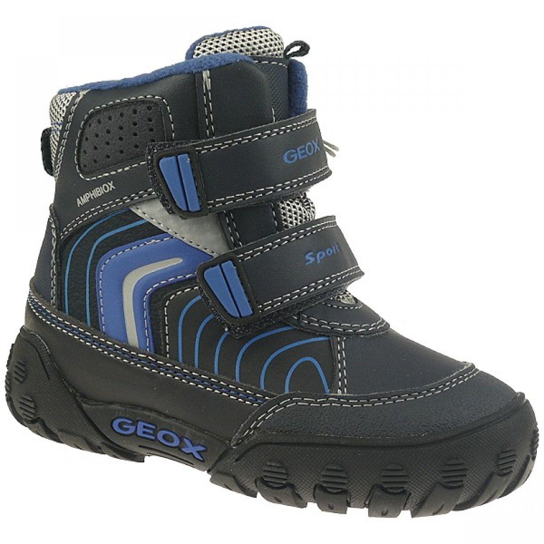 GEOX GULP wasserdichter Winterstiefel Blinklicht° blau° grau°, navy, Gr.23 27