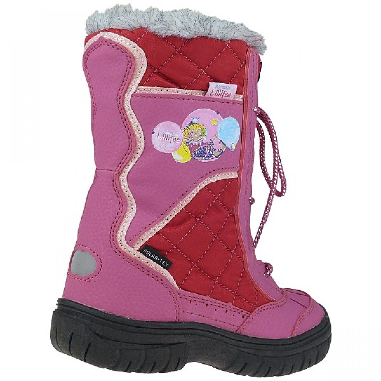 Prinzessin Lillifee Lederstiefel mit Polartex Warmfutter pink Gr.25-35