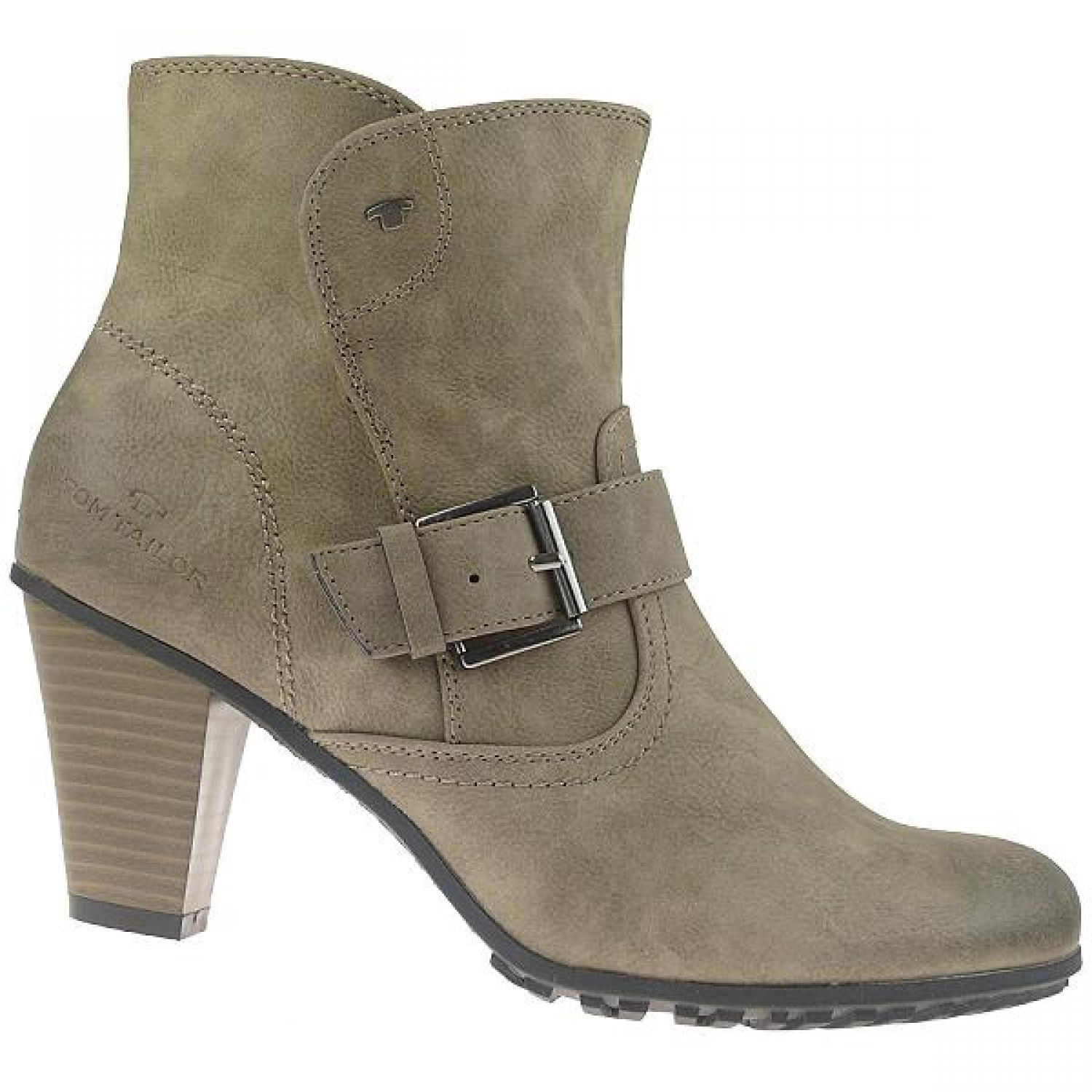 TOM TAILOR Ankle Boot Trichterabsatz Farbe mud Gr.37 42 | eBay