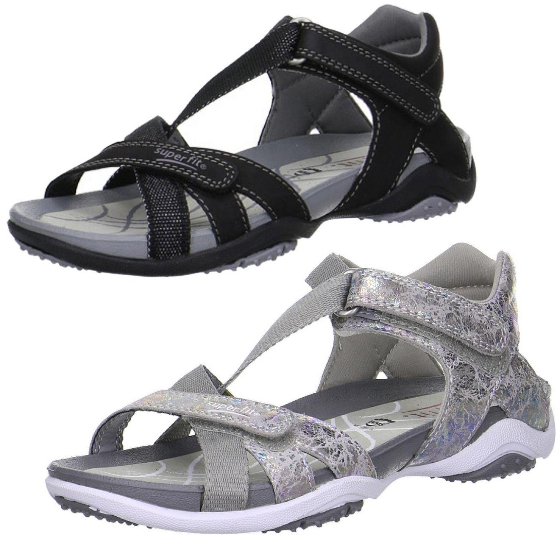SUPERFIT Mädchen Leder Sandale NANCY 00161 schwarz silbermulticolor Gr.36 41