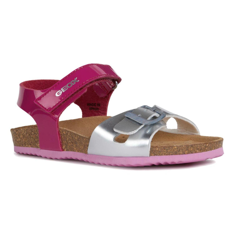 Details zu GEOX Mädchen Sandale J New Sandal ALOHA Lederfussbett Fuxia oder Pink Gr.24 35 iWOiN