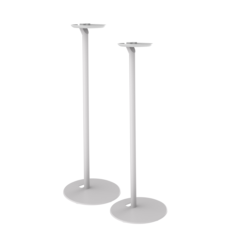 2x Premium Standfuß Ständer für Lautsprecher SONOS ONE mit Kabelmanagement weiß