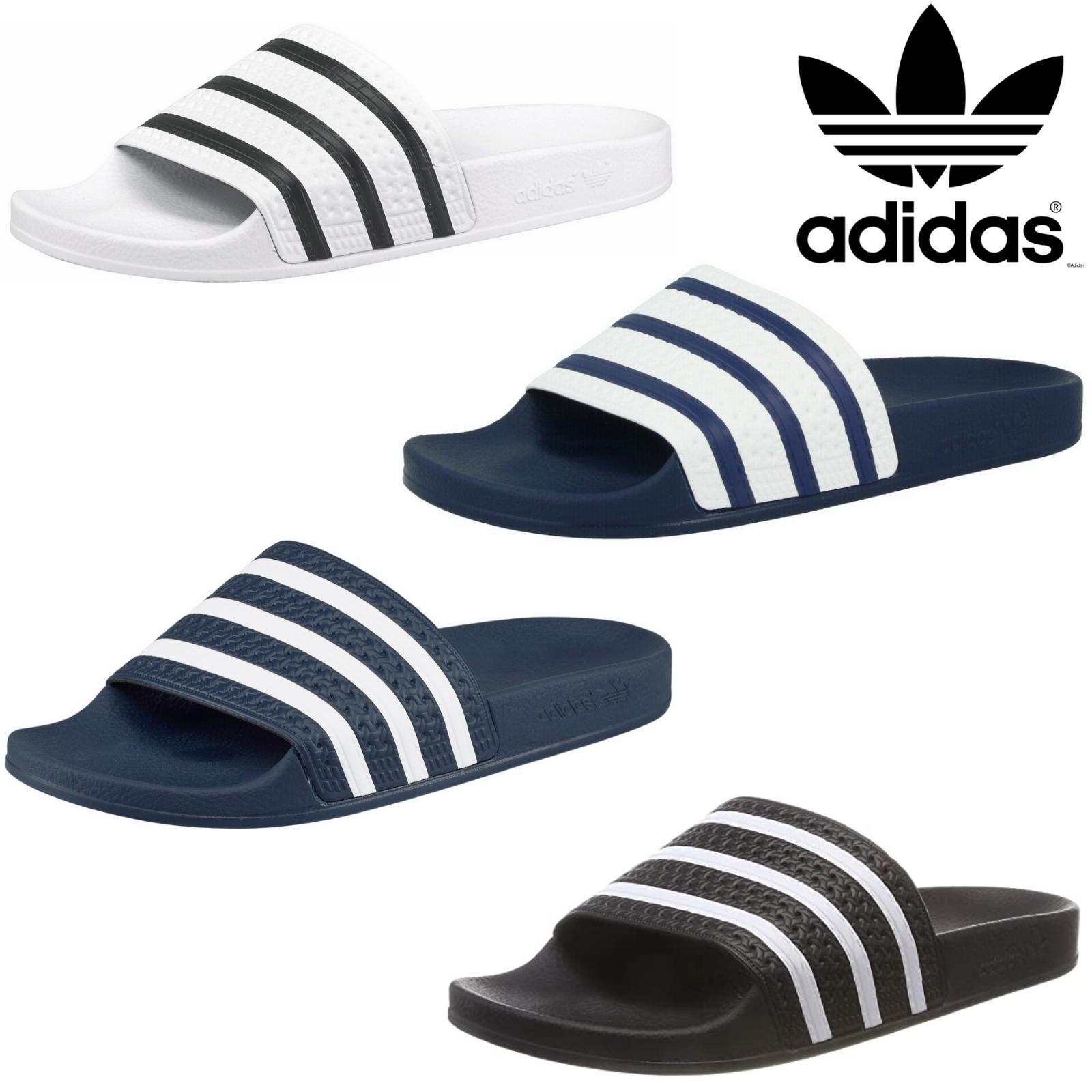 Details zu Adidas Adilette Herren Schuhe Badeschuhe Sandale Badelatschen Pantoletten