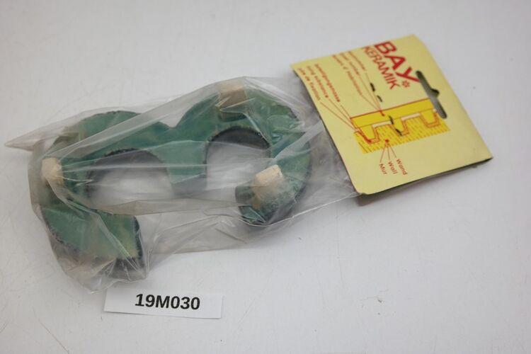 Hausnummer 3 Bay Keramik Ton blau Türschild ZahlNummer Schild vintage loft19M030