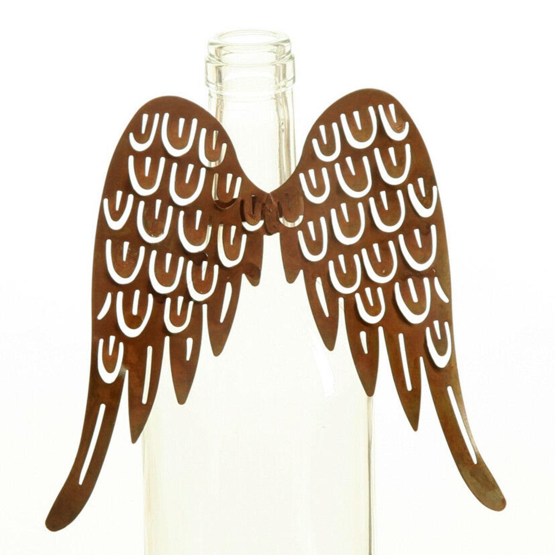 Engelsflügel 9 cm Edelrost Metall Engel Flügel Rost Bastelflügel