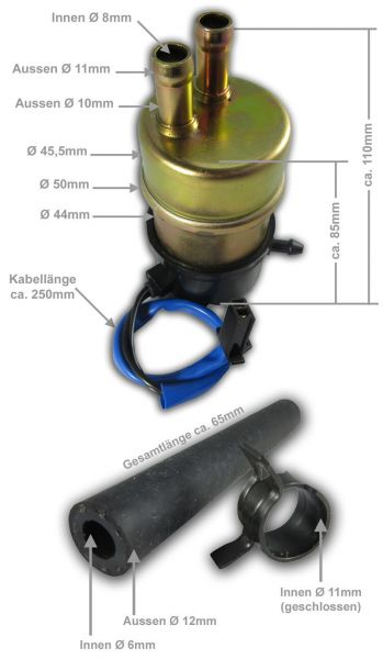 1 Meter Benzinschlauch 7mm Ø mit Garngeflecht  Honda CB Four Bol d`Or CX CBX