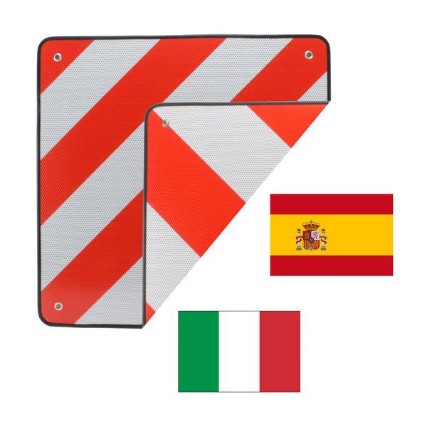 2in1 Discode warntafel Proietta riflessi per l/'Italia e la Spagna 50x50cm ROSSO-BIANCO