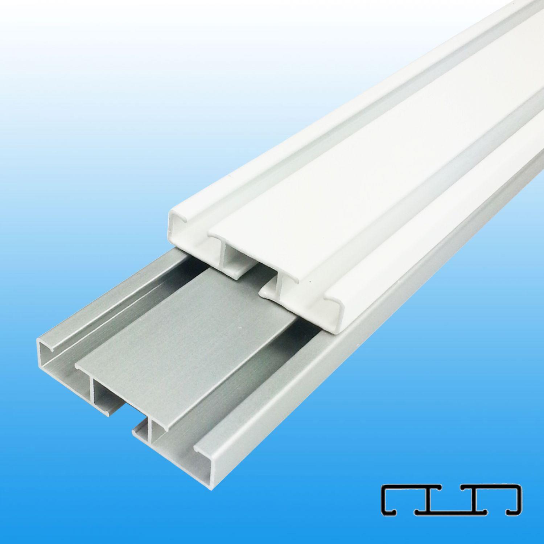 Beliebt Aluminium Vorhangschiene Gardinenschiene weiß/alu Wendeschiene 1/2 HS47
