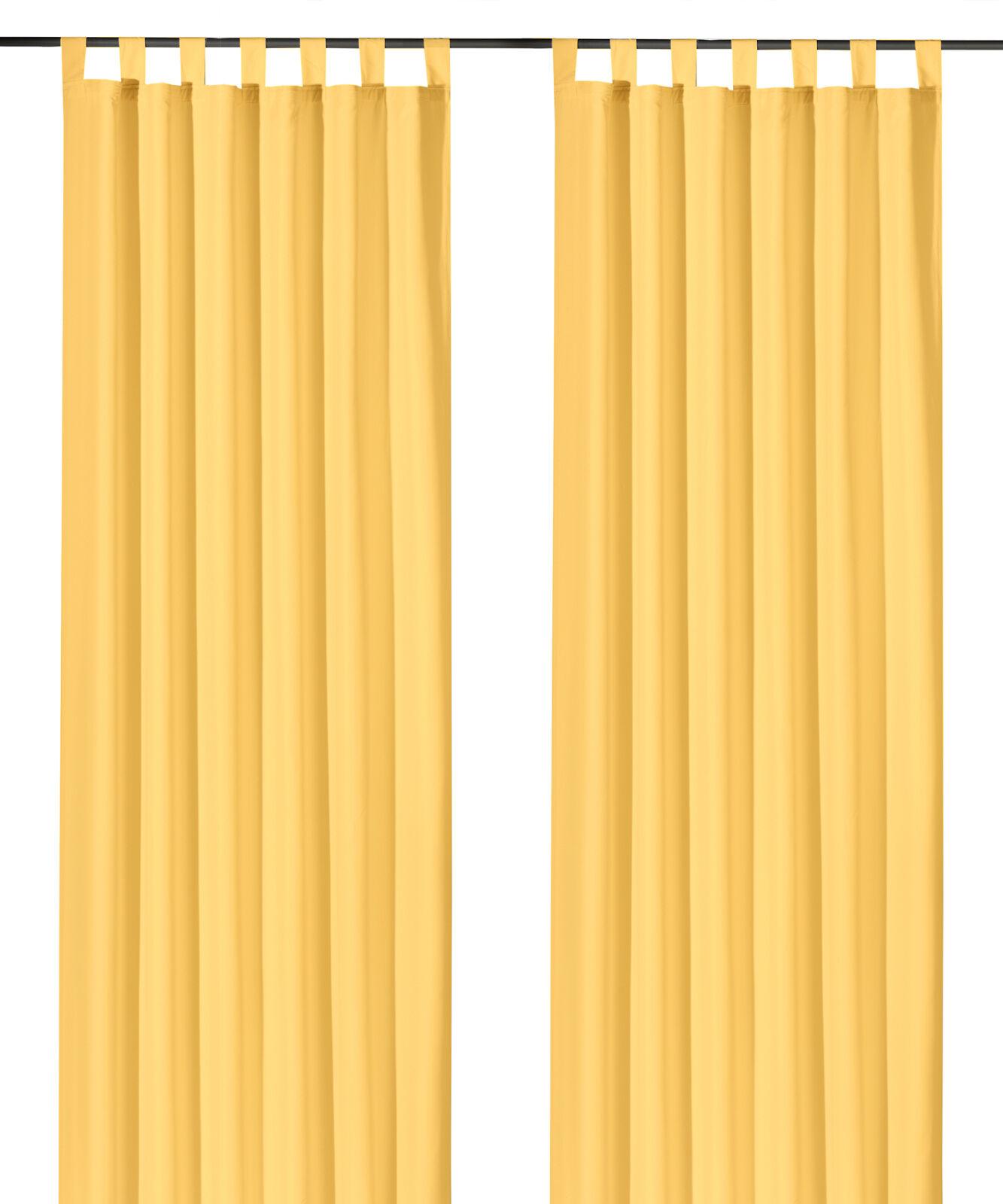 Schlaufenschal-inkl-Kraeuselband-blickdicht-Gardine-Vorhang-Dekoschal-Uni-Typ117 Indexbild 27