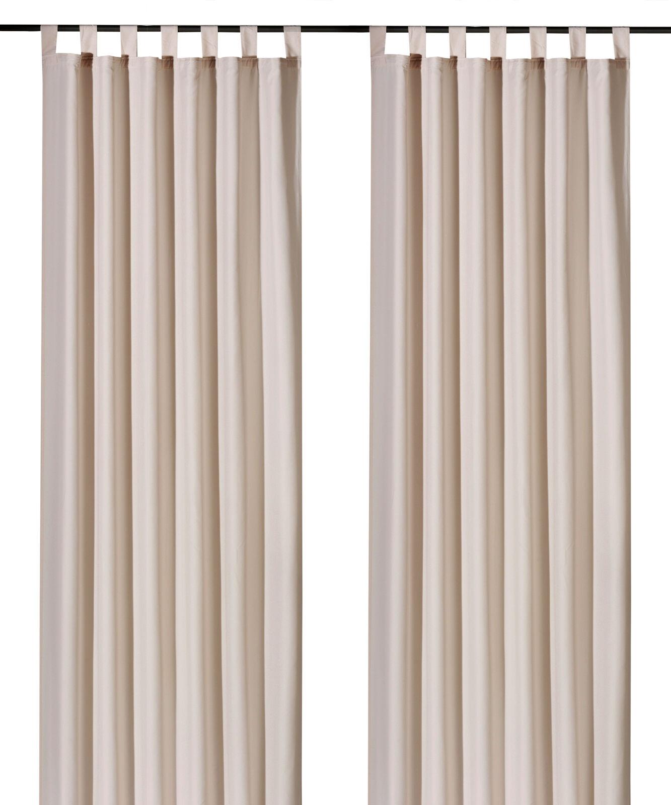 Schlaufenschal-inkl-Kraeuselband-blickdicht-Gardine-Vorhang-Dekoschal-Uni-Typ117 Indexbild 9