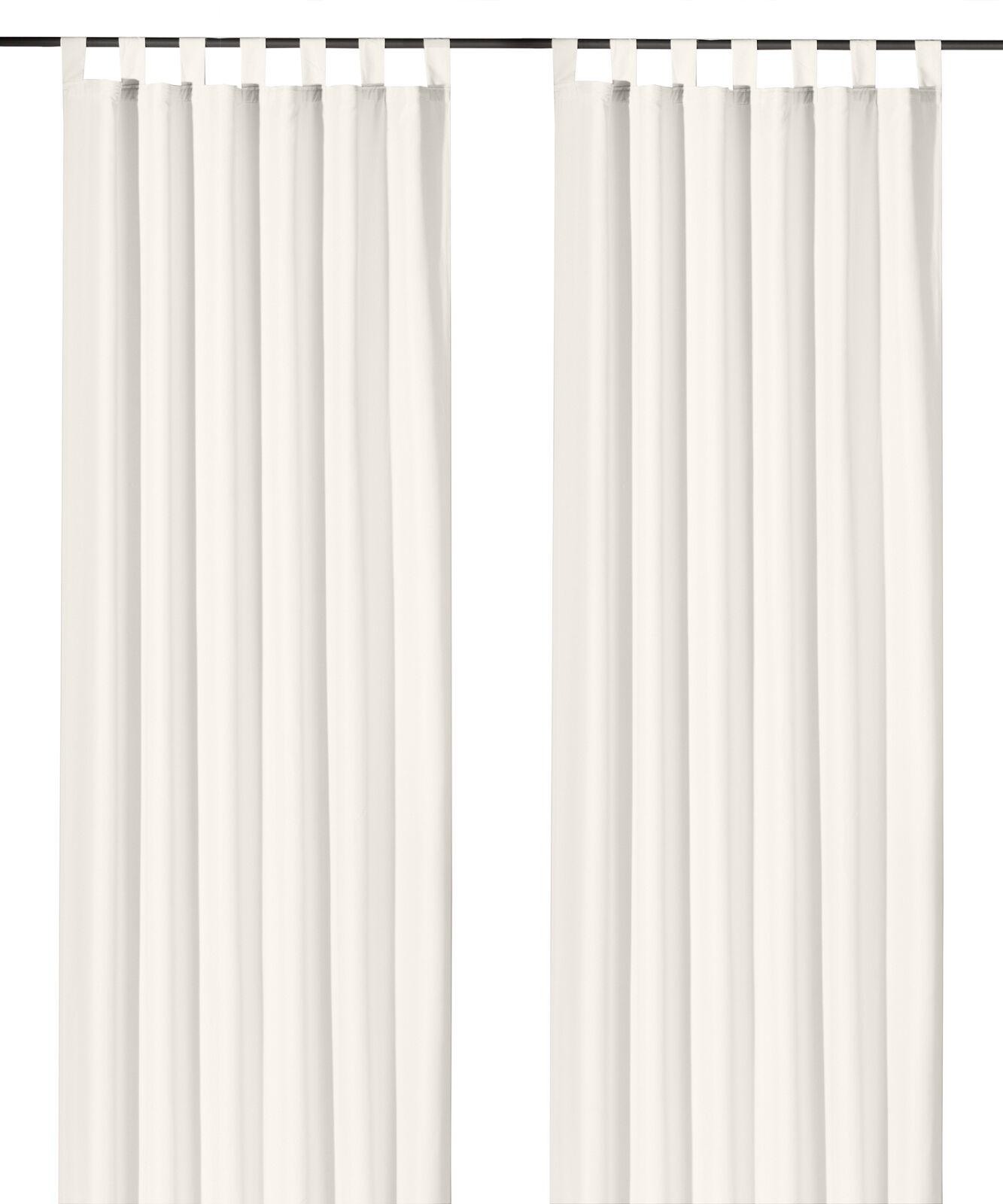 Schlaufenschal-inkl-Kraeuselband-blickdicht-Gardine-Vorhang-Dekoschal-Uni-Typ117 Indexbild 30