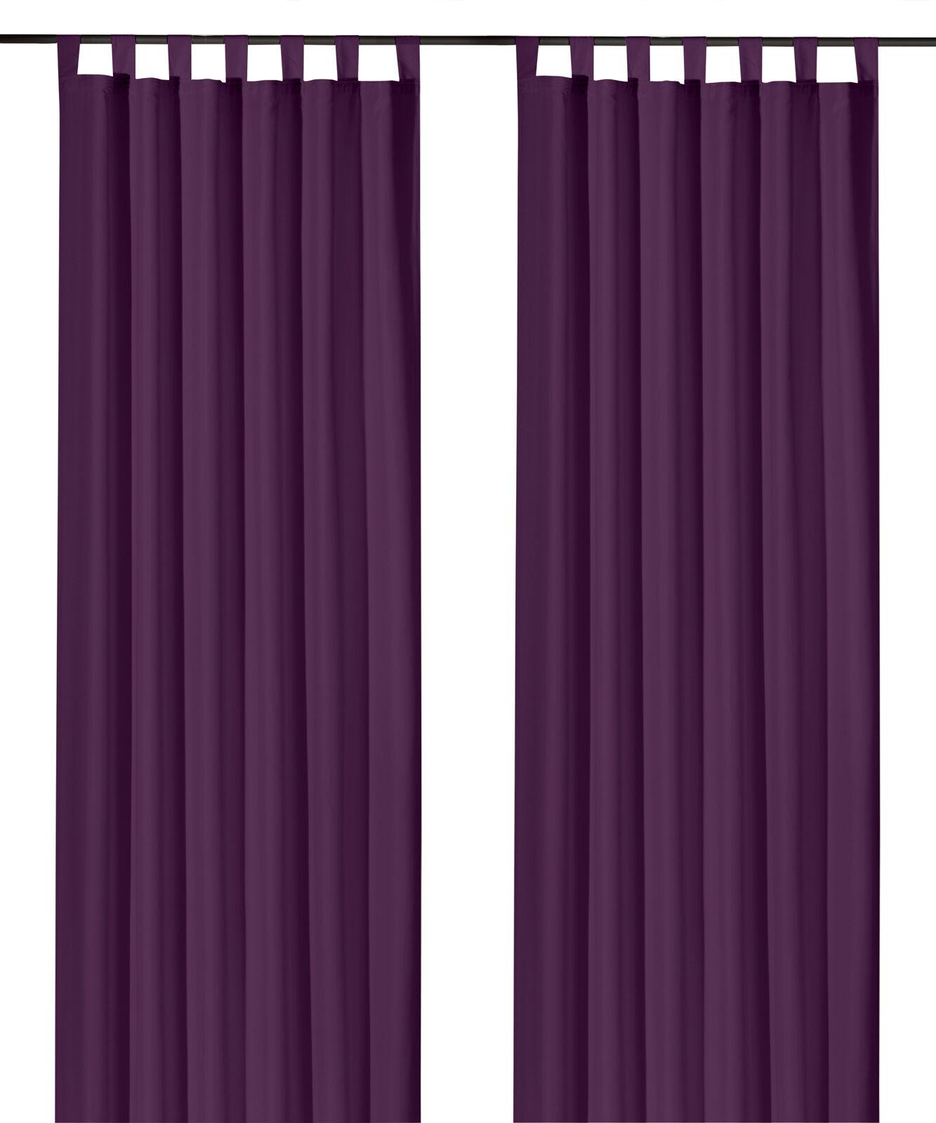 Schlaufenschal-inkl-Kraeuselband-blickdicht-Gardine-Vorhang-Dekoschal-Uni-Typ117 Indexbild 15