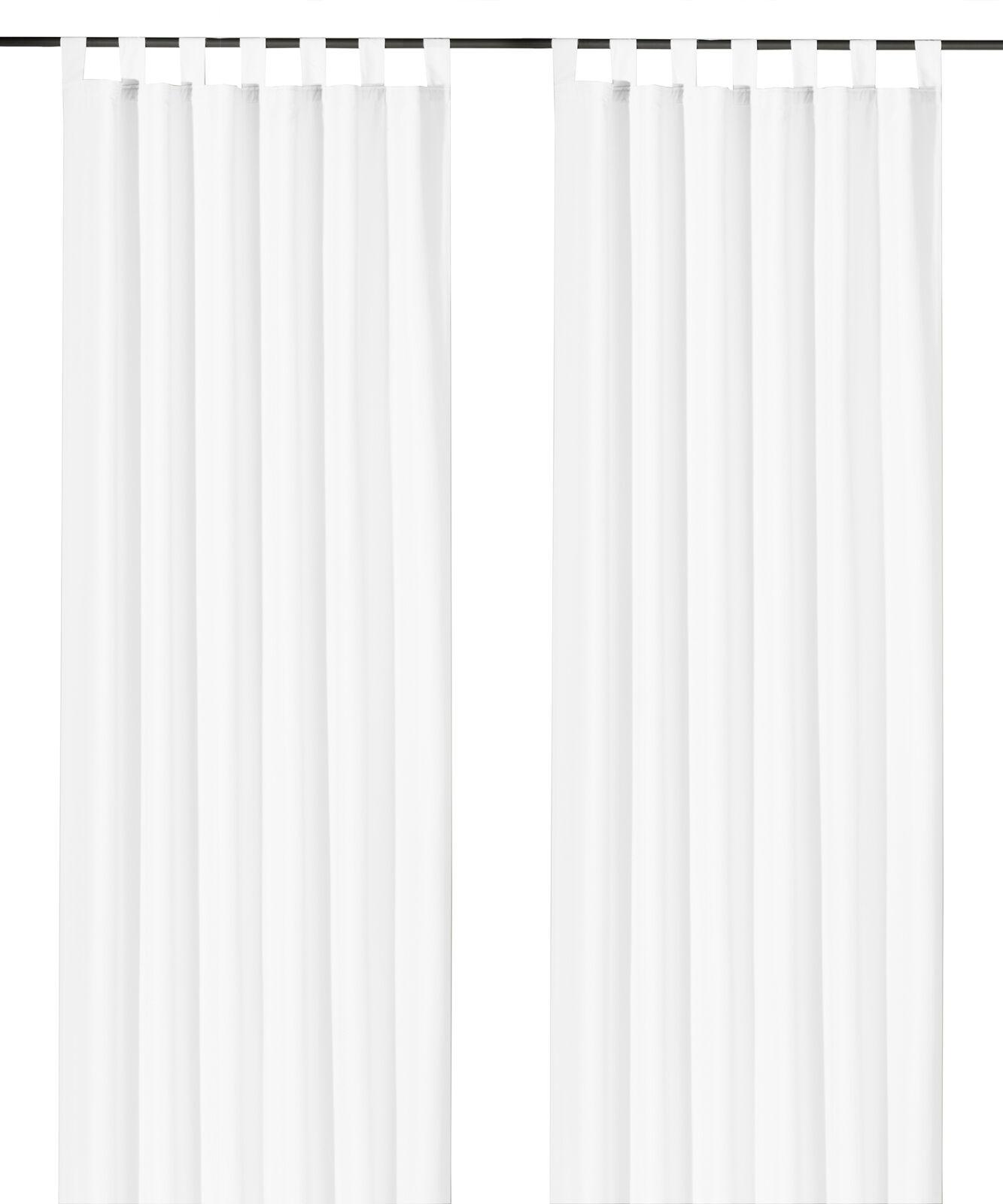 Schlaufenschal-inkl-Kraeuselband-blickdicht-Gardine-Vorhang-Dekoschal-Uni-Typ117 Indexbild 33