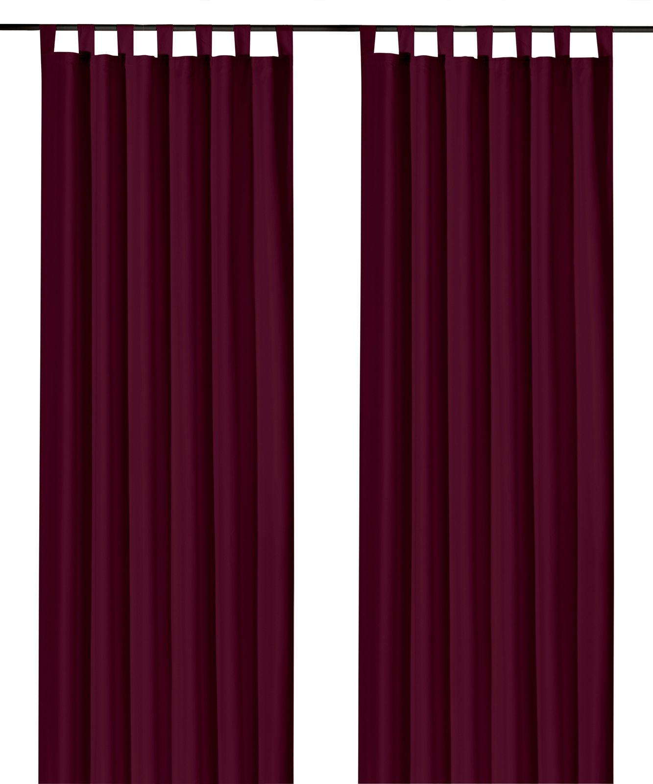Schlaufenschal-inkl-Kraeuselband-blickdicht-Gardine-Vorhang-Dekoschal-Uni-Typ117 Indexbild 18