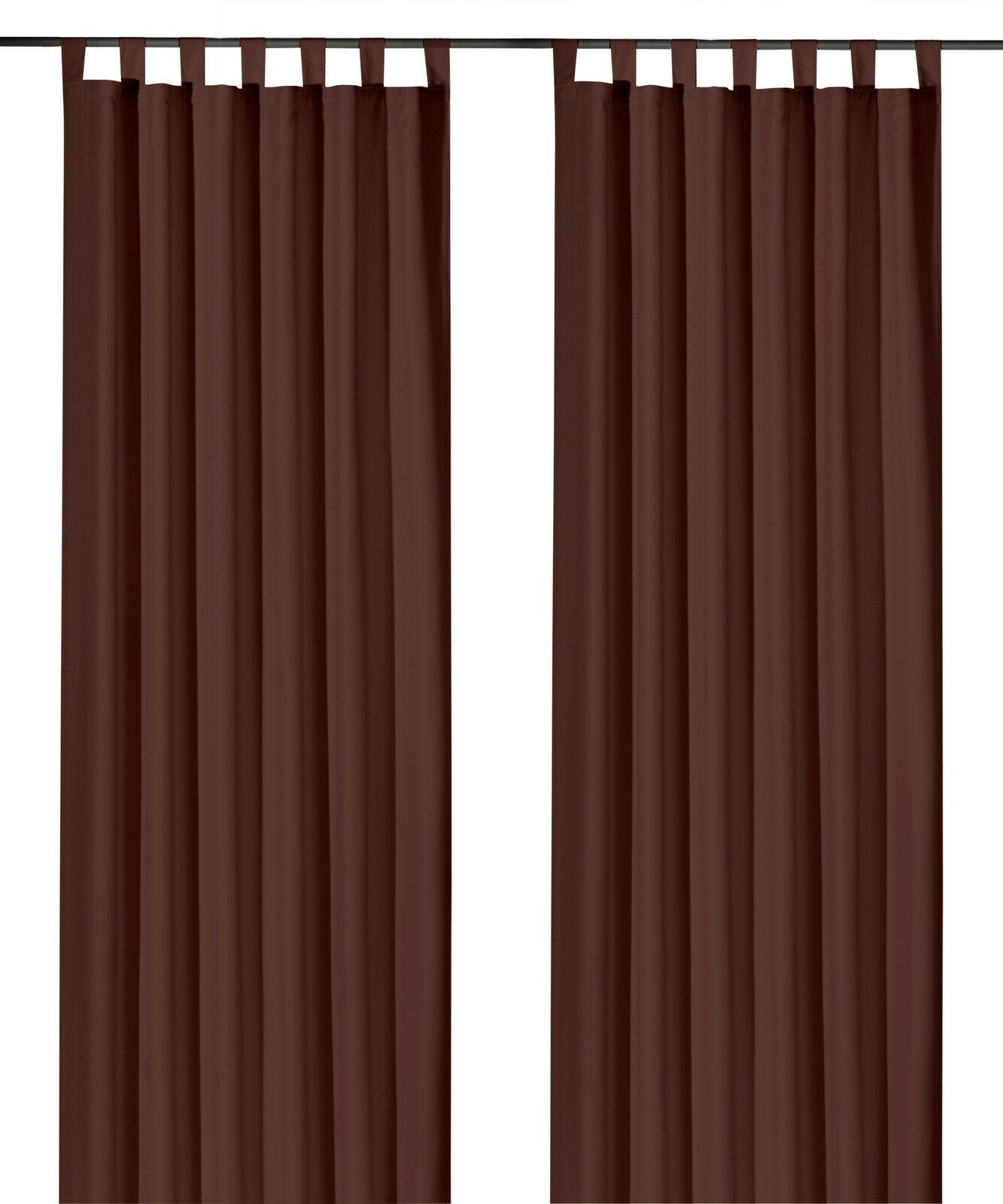 Schlaufenschal-inkl-Kraeuselband-blickdicht-Gardine-Vorhang-Dekoschal-Uni-Typ117 Indexbild 21