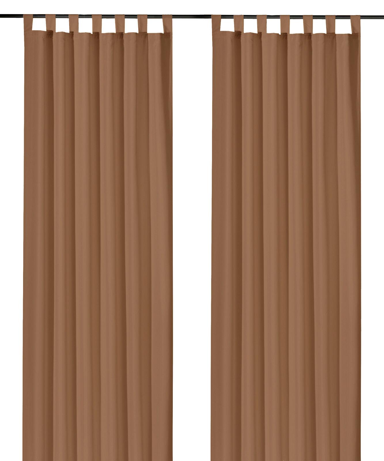Schlaufenschal-inkl-Kraeuselband-blickdicht-Gardine-Vorhang-Dekoschal-Uni-Typ117 Indexbild 24