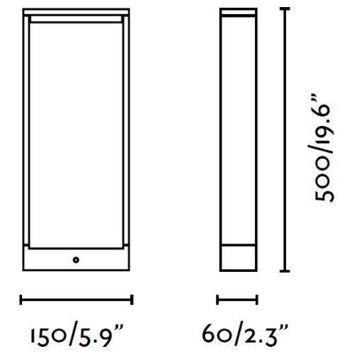 Wegeleuchte anthrazit Eisen grau IP54 Kunststoff Acryl LED