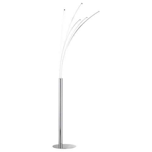 Moderne Stehlampe chrom LED Modern Warmweiß dimmbar | eBay