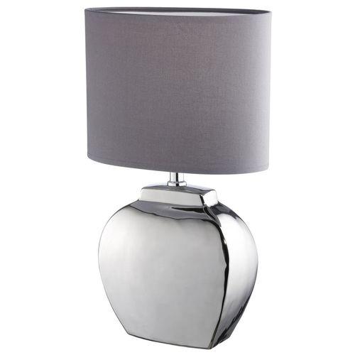 Nachttischleuchte Tischleuchte E14 grau Keramik Modern