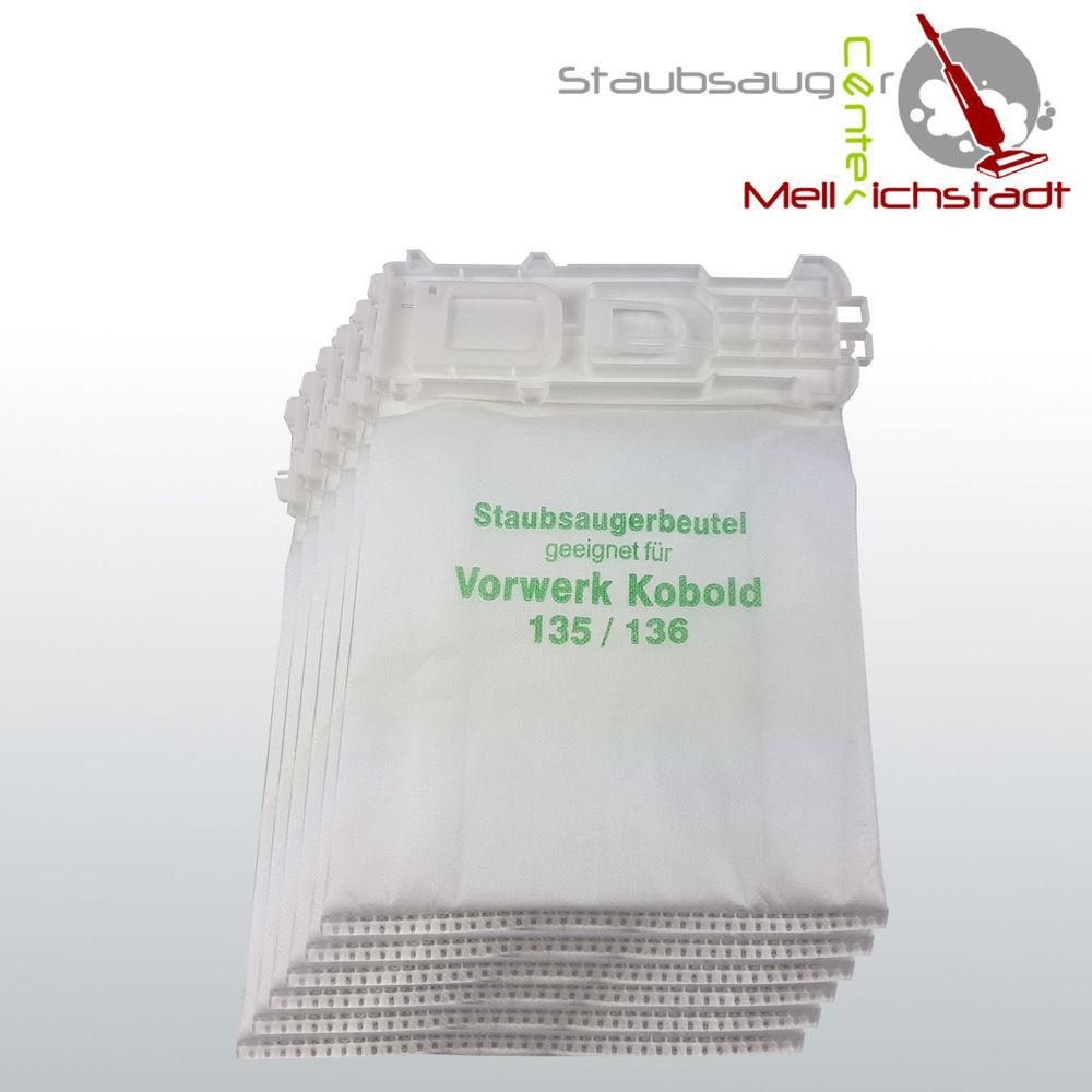 136 6 x Staubsaugerbeutel mehrlagig für Vorwerk Kobold 135