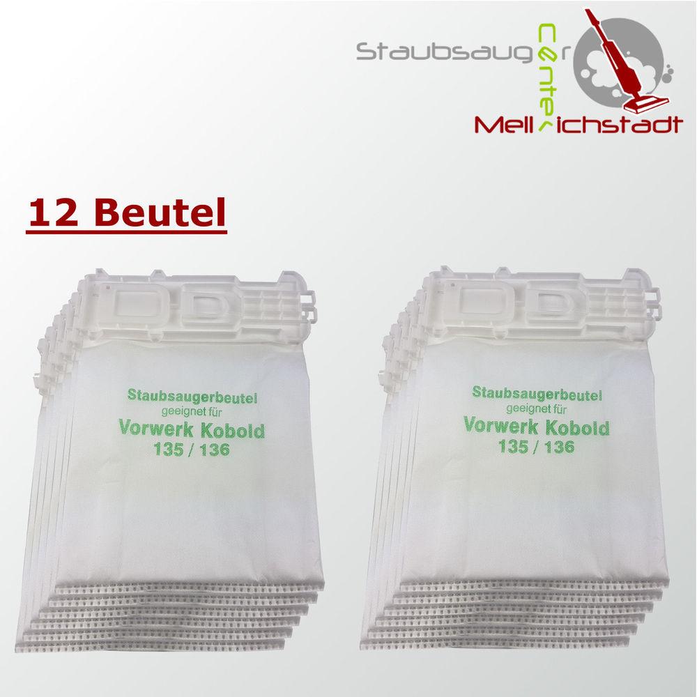 Staubsaugerbeutel Staubbeutel Filtertüten geeignet für Vorwerk Kobold VK 135 136