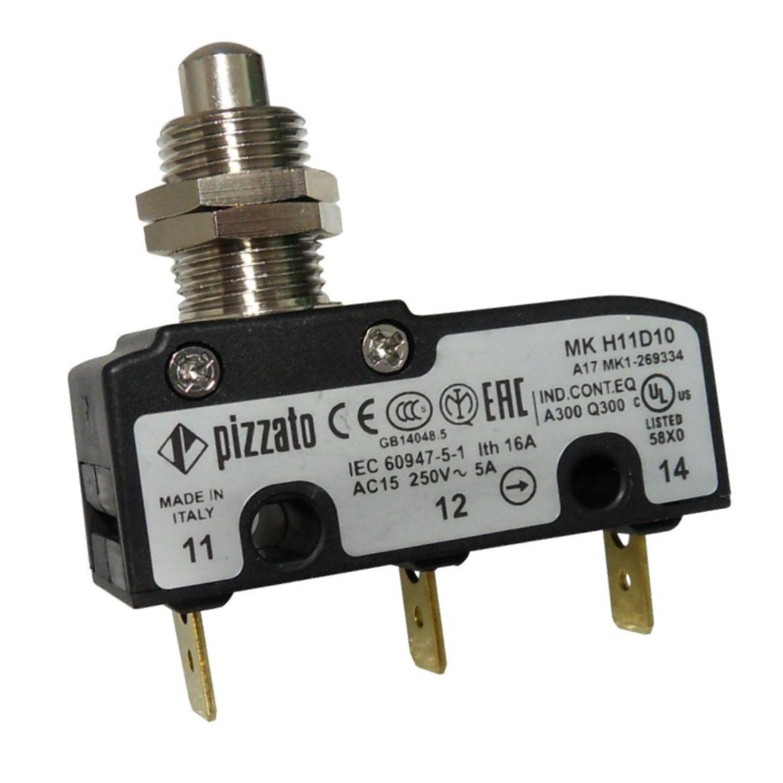 Mikroschalter mit Stößel, hochtemperatur 85°C 1 Wechsler 5A/250V ...