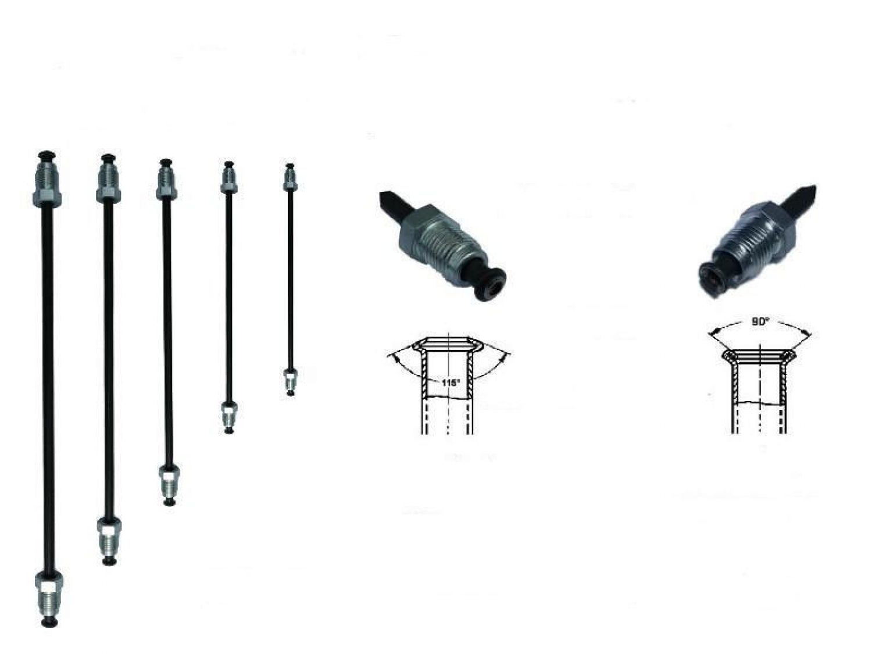 Bremsleitung /Ø 4,75 mm einbaufertig geb/ördelt mit Nippel 160mm E 3050mm Auswahl: L/änge 1150 mm B/ördel E