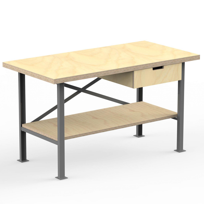 Profi Werkbank 150 cm x 80 cm mit 40 mm Multiplexplatte Arbeitstisch Packtisch