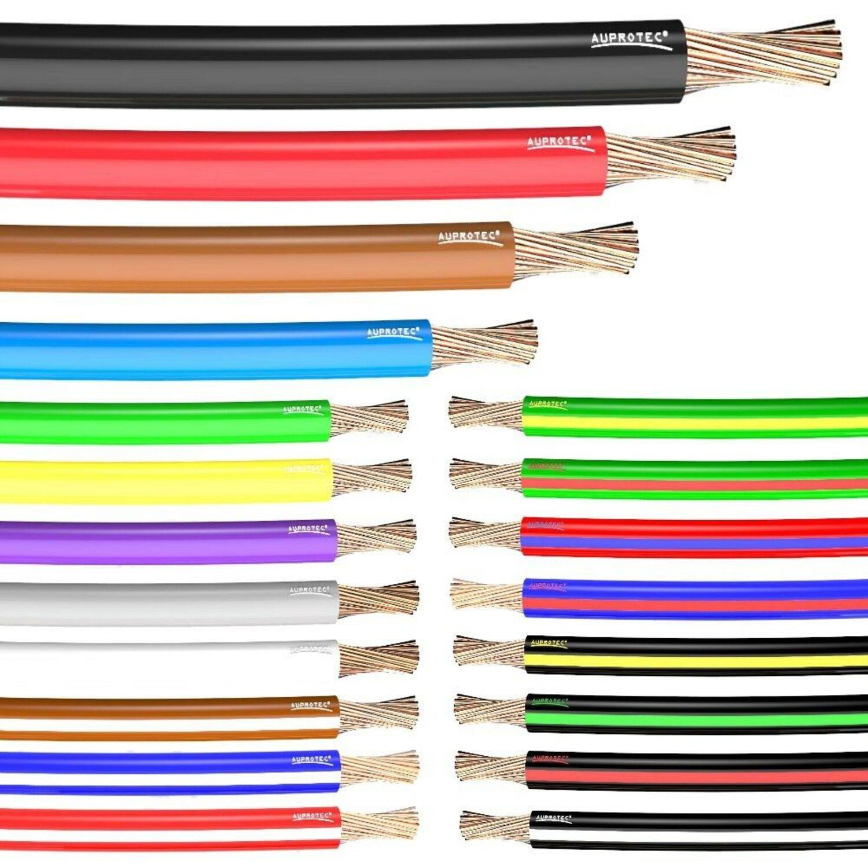 10m FLY Fahrzeugleitung Rot 10mm² rund Kabel Litze KFZ Stromkabel