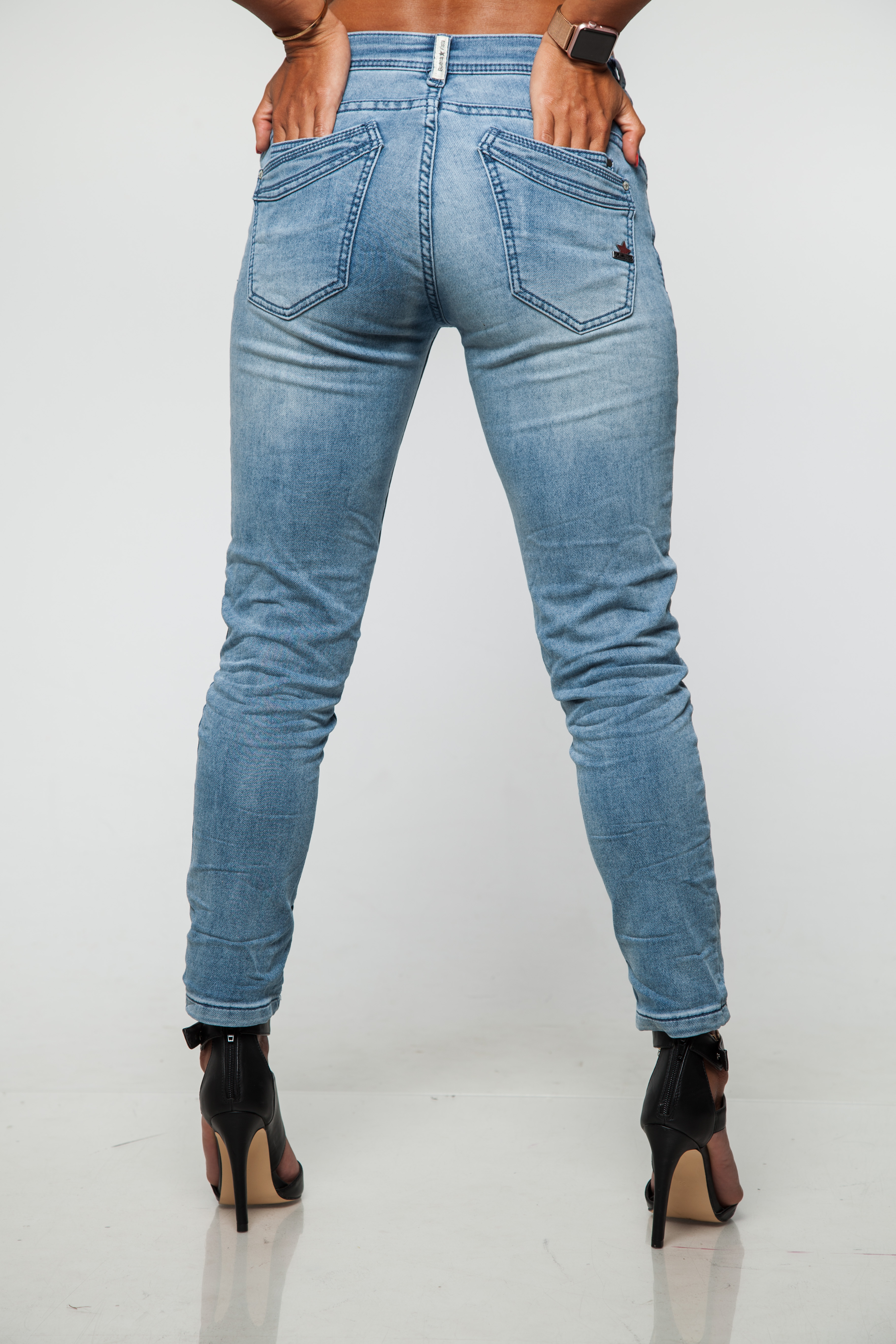 Buena Vista Jeans Da Donna MALIBU 7//8 SWEAT Denim 1628