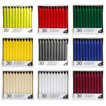 50 Leuchterkerzen Tafelkerzen Spitzkerzen ø 2,2 cm viele Farben 25cm