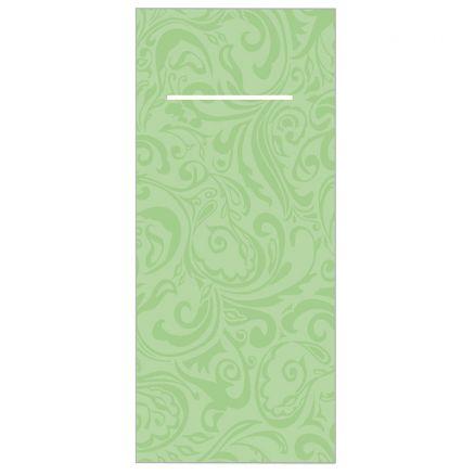 Mank Lias Airlaid-Bestecktaschen Servietten pistazie grün Hochzeit 40x40 cm