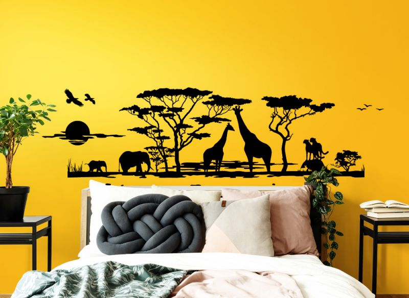 wandtattoo wandsticker wandaufkleber schlafzimmer afrika. Black Bedroom Furniture Sets. Home Design Ideas