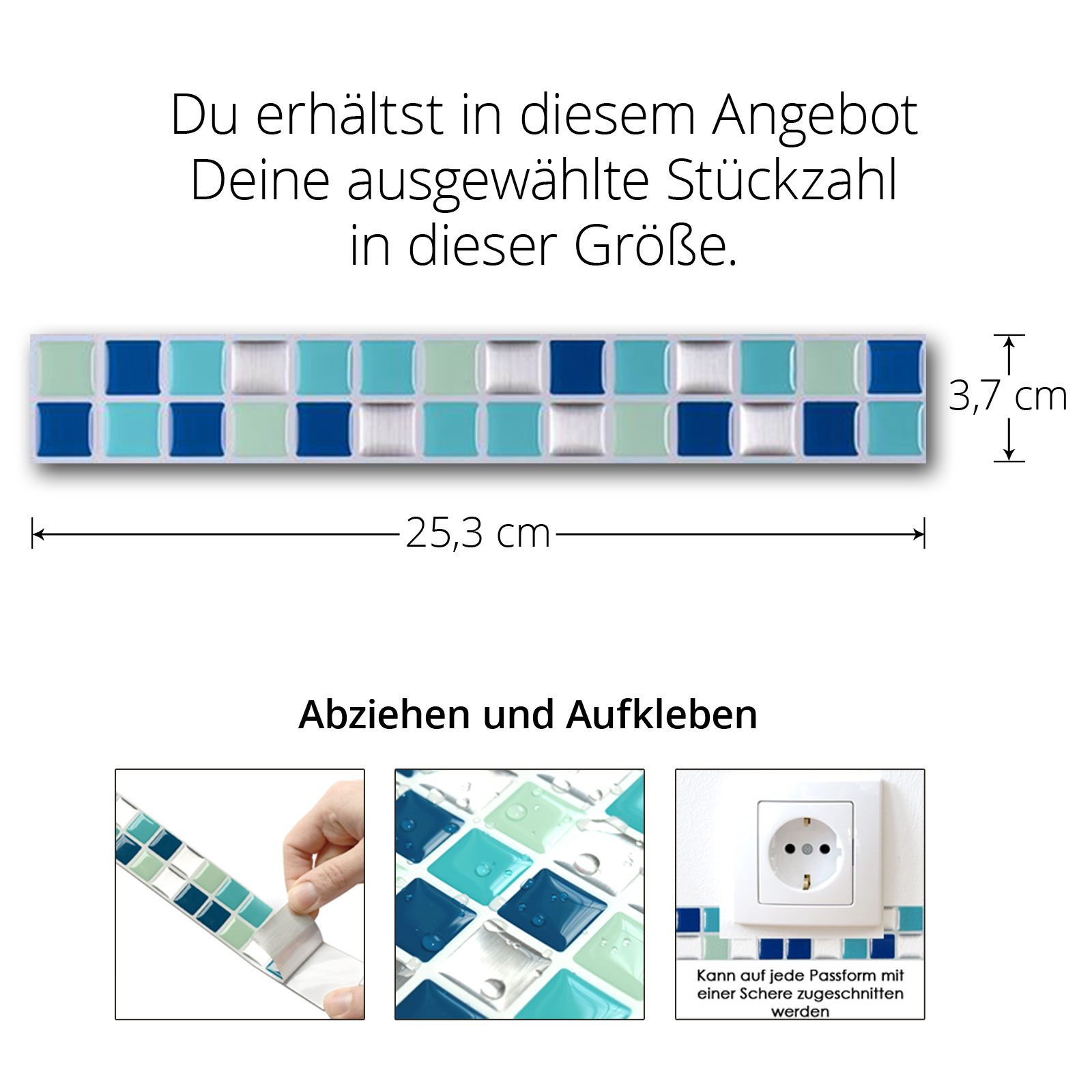 3D Fliesenaufkleber Fliesenfolie Wandaufkleber Fliesensticker Küche Bad W3467
