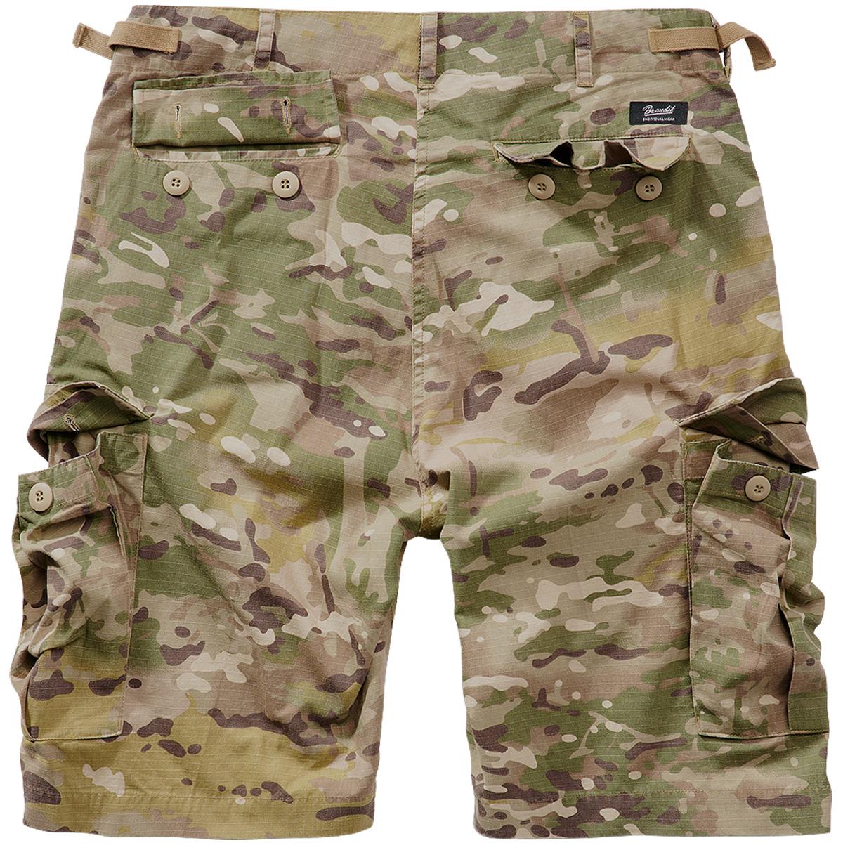 Brandit-BDU-Ripstop-Shorts-S-7XL-Army-Cargo-Bermuda-Outdoor-Short-kurze-Hose miniatura 17