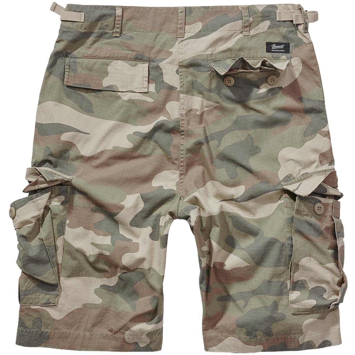 Brandit-BDU-Ripstop-Shorts-S-7XL-Army-Cargo-Bermuda-Outdoor-Short-kurze-Hose miniatura 19