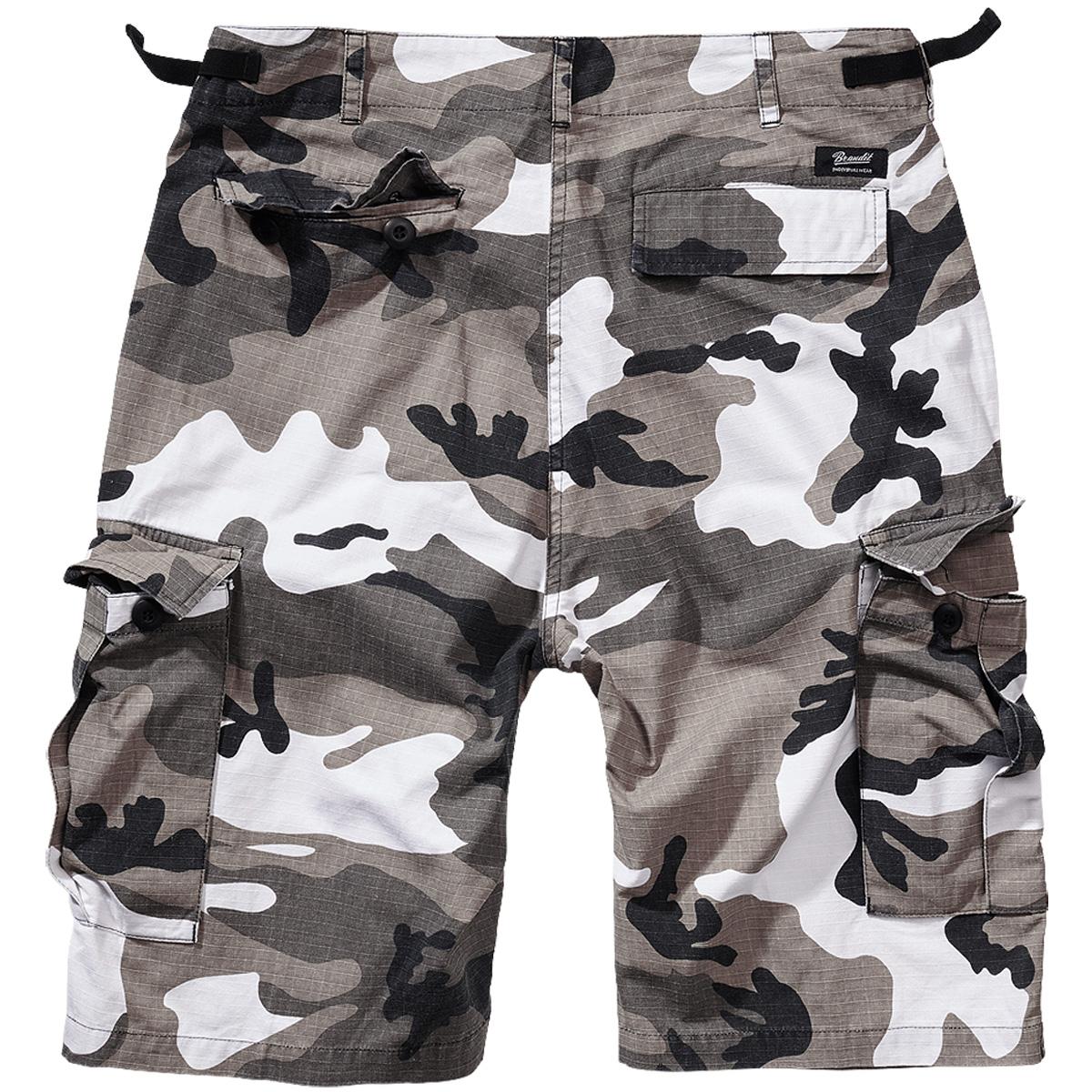 Brandit-BDU-Ripstop-Shorts-S-7XL-Army-Cargo-Bermuda-Outdoor-Short-kurze-Hose miniatura 13