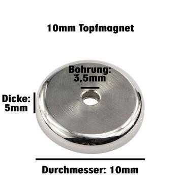 Senkung Topfmagnet Neodym Ø 18 mm Starke Haftkraft Magnet // Bohrung 2 Stk ?