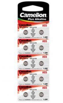 200x Knopfzelle AG5-LR48-LR754-193-393 Alkaline Uhrenbatterie von Camelion