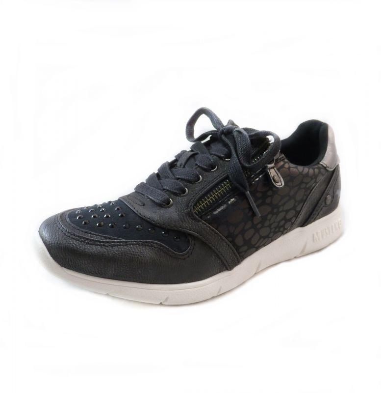 Details zu MUSTANG SHOES Damen Sneaker Halbschuhe Schnürer Schuhe Schnürsenkel Schwarz