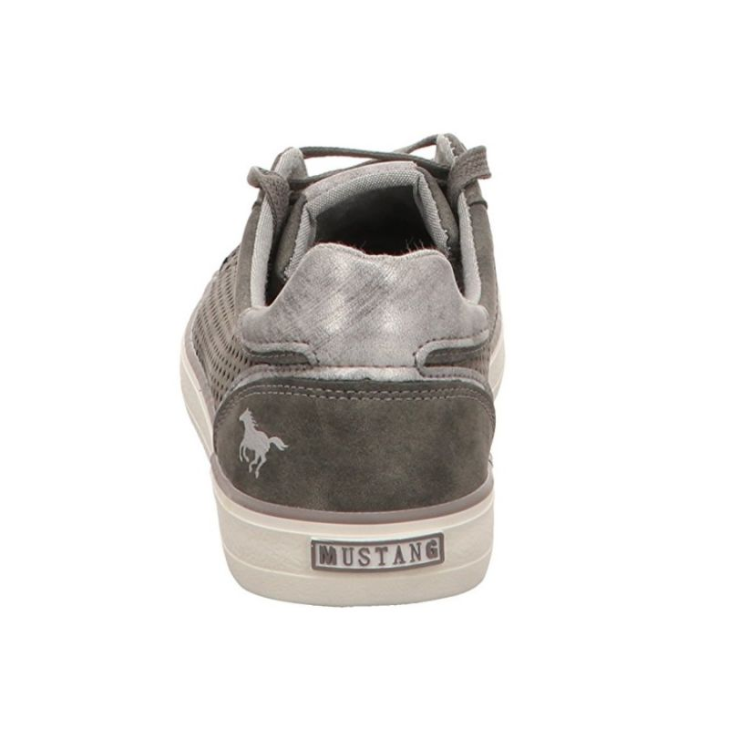 20 dunkelgrau Grau MUSTANG SHOES Damen Sneaker Schuhe Halbschuhe Schnürsenkel