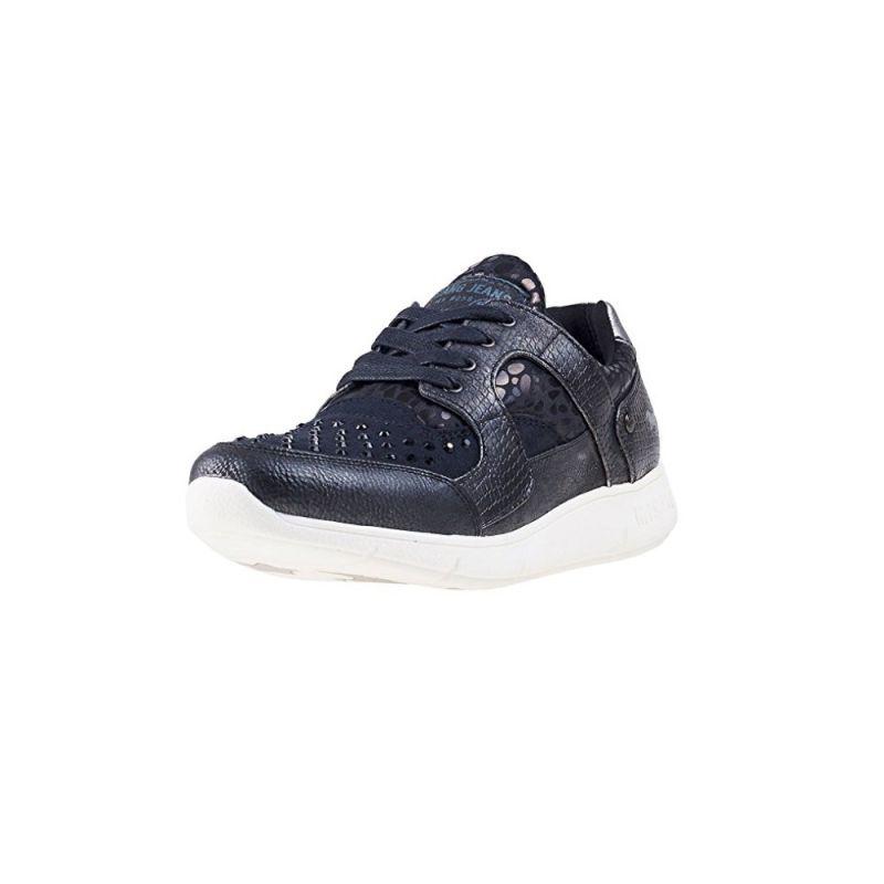 Détails sur Mustang Shoes Sneaker Femmes Chaussures basses lacets lacets noir afficher le titre d'origine