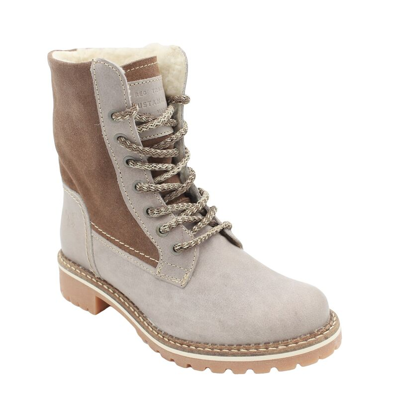 Details zu MUSTANG SHOES Damen Schuhe Boots Echtleder Kurzschaft Stiefel Stiefelette