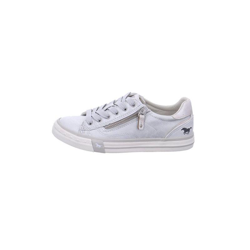 MUSTANG SHOES Damen Sneaker Schuhe Halbschuhe Schnürsenkel Schnürer Weiß